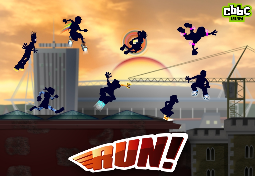 BBC's Run - a 'live' Platform Game for CBBC