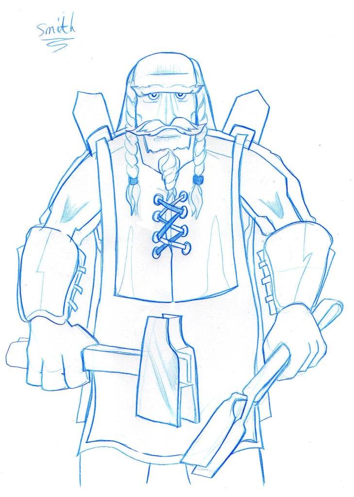Master Mache concept sketch