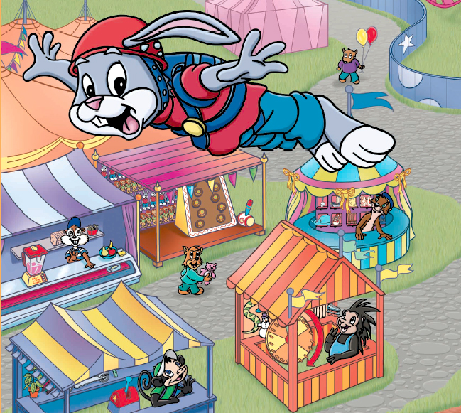 Leap pad layouts for Reader Rabbit