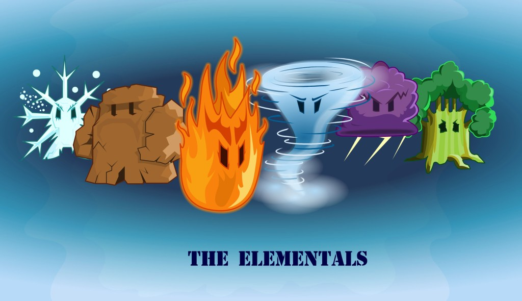 Elementals - grid revision game for the BBC
